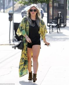 Pins on parade:Hilary Duff certainly ensured she dressed to impress as she headed out in Studio City, California, on Sunday to grab a refreshing iced coffee at her local Starbucks