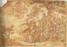 Domingo Saura (attr.), Présage de la Passion lors du repos pendant la fuite en Egypte, plume, encre et lavis bruns sur papier vergé blanc, 18,8 x 27 cm. Valencia, Museo de Bellas Artes de San Pío V (cat. exp., Valence, 1994, 199)