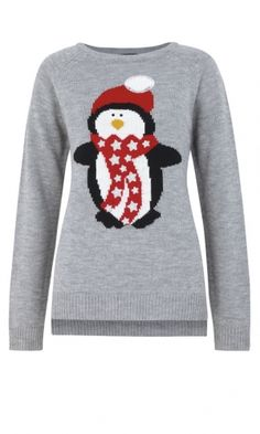 Christmas Day outfir, sorted!! Lol. Primark Penguin Jumper, £12