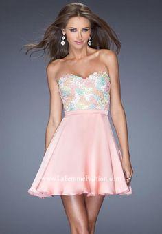 La Femme Lace Top Dress 20133