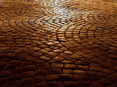 Cobblestones in circles - like the feel of this