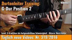 ✪ Durtonleiter Training  ►G-Dur Position 2
