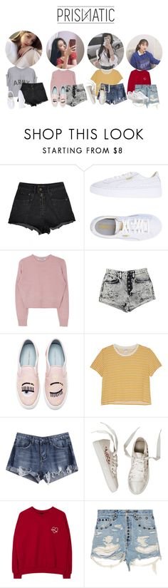 """""""PRISMΔTIC ᐃ AAEntertainment Audition"""" by prismatic-official ❤ liked on Polyvore featuring Puma, Carmar, Chiara Ferragni, Monki, Gucci and Vans"""