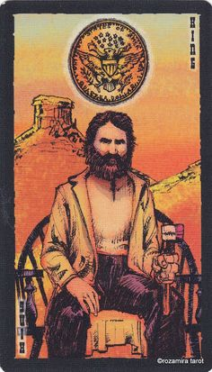 King of Coins - The Prairie Tarot by Robin Ator