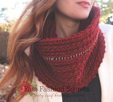 Fast Fashion Secrets: 17 Infinity Scarf Knitting Patterns | AllFreeKnitting.com