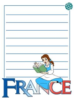 """EPCOT - France - Belle - Project Life Journal Card - Scrapbooking. ~~~~~~~~~ Size: 3x4"""" @ 300 dpi. This card is **Personal use only - NOT for sale/resale** Logos/clipart belong to Disney. ***Click through to photobucket for more versions of this card with and without characters :) ***"""