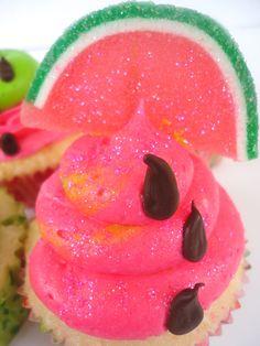 Watermelon cupcake