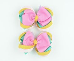 SALEHair Bows For GirlsBlush Pink Pretty Purple by SheWearsitWell, $9.00