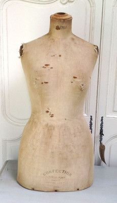 ORIGINAL OLD FRENCH STOCKMAN 'CONFECTION' MANNEQUIN TAILORS DUMMY Fit Models, Vintage Mannequin, Dress Form, Lovely Dresses, Corsets, Fitness Models, Display, French, Decorating