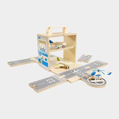 Clara loves aeroplanes, and this is the coolest airport and plane set I have seen (love that it packs away into a box too). Might have to ask Father Christmas ;)