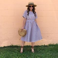 Ready for the weekend in this perfect @slaydonandrose picnic taupe gingham dress! Seriously one of the prettiest dresses I've ever worn! It would look beautiful on any body type. ❤️ You can get $5 off of $20 using code SR5. It's valid through Sunday 4/14/18, CST.