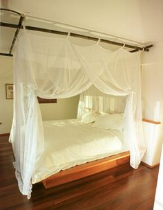 55 Ideas You Can Improve Your Bed Mosquito Net Is Safety Bed Net, Diy Canopy, Mosquito Net, Outdoor Furniture, Outdoor Decor, Improve Yourself, Living Spaces, Interior, House