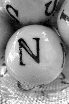 ~ letter ceremic balls ~