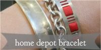 Love the industrial DIY jewelry projects I've seen lately; this one uses a hose clamp from Home Depot