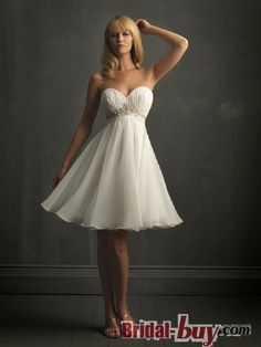#Short Wedding Dress, #Beach Wedding Dresses #Affordable,  New Style Princess Ruched Sweetheart Short White  Under 200