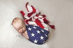 <3 Patriotic baby! Jenelle Morrow Photography | Whitley City, KY Newborn Photographer