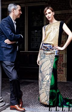 Irrationally obsessed with this Dries Van Noten gown. As seen in Elle magazine.