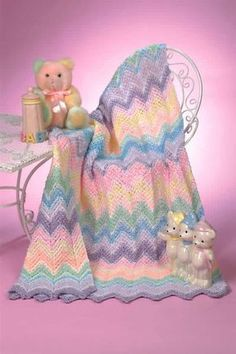 Sherbet Ripple Baby Blanket Free Crochet Pattern from the Baby blankets Free Crochet Patterns Category and Knit Patterns at Craft Freely