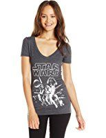 Star Wars Juniors' Episode 7 The Force Awakens Group Logo Graphic T-Shirt at Amazon Women's Clothing store: