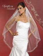 Symphony Bridal Wedding Veil with Gold or Silver Embroidery