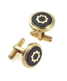 TRUFFLES GOLD BLACK CUFFLINKS