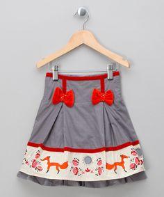 Uttam Girls   Grey Fox Skirt - Toddler  Girls