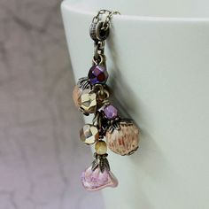 Purple and Brown Glass Bead Necklace  by carolinascreations, $14.00
