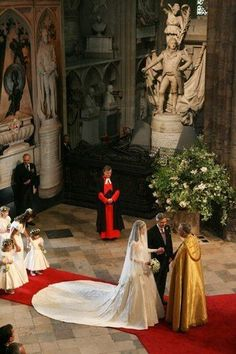 Westminster Abbey, London, England, during the wedding of William and Kate.