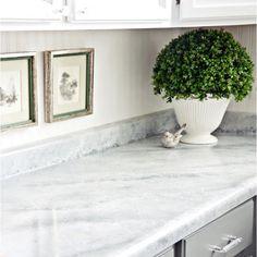 Giani Countertop Paint: White Diamond Marble Application
