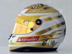 The 20 best F1 helmets of all time: Fernando Alonso (© Ferrari)