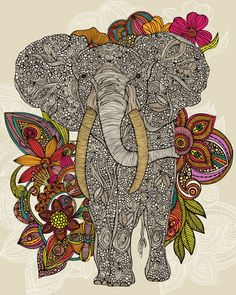 Elephant - I love this design,  but it needs to have her trunk up for good luck!