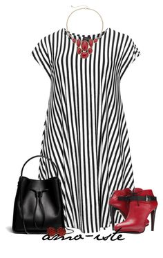 """""""Stripes - Plus Size"""" by amo-iste ❤ liked on Polyvore featuring Choise, COSTUME NATIONAL, 3.1 Phillip Lim, Sonoma life + style and Ciner"""