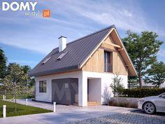 Projekt domu Groszek 2 - wizualizacja frontowa