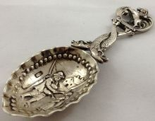 Silver tea caddy spoon