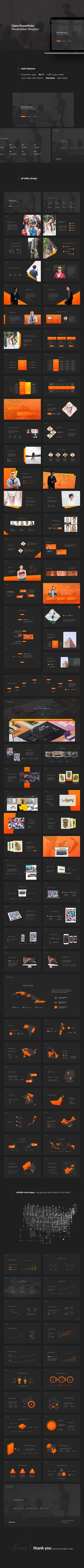 Claire PowerPoint Template — Powerpoint PPTX #deck #creative • Download ➝ https://graphicriver.net/item/claire-powerpoint-template/19228241?ref=pxcr