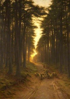 Now Came Still Evening On c.1905 by Joseph Farquharson (Scottish 1846-1935)