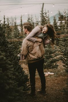 Because who doesn't love running around in a tree lot? I'm so grateful for this boy and his love for an adventure & a good time. Couple Photoshoot Poses, Couple Photography Poses, Couple Shoot, Christmas Photography, Winter Photography, Wedding Photography, Christmas Couple, Couple Christmas Pictures, Christmas Pics