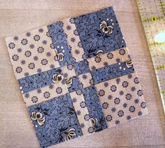 A Sentimental Quilter: Disappearing Four-patch Block Tutorial