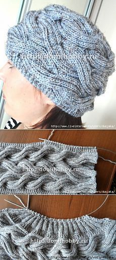 Height 15-17 cm, circumference 50-56 cm. Yarn 300m/100g. needles : 4,5mm.