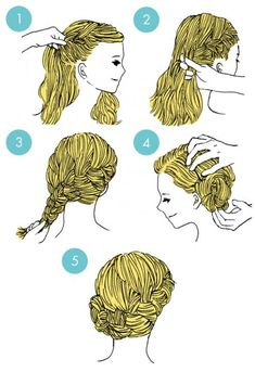 Simple tutorials to style hair fringe19