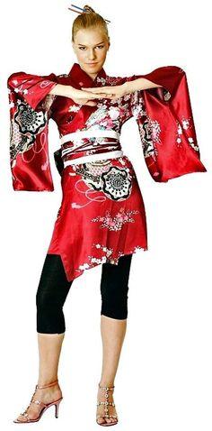 Deep Red Kimono