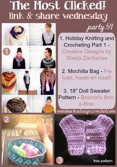 Link and Share Wednesday {Party 50 The Most Clicked} Oombawka Design Crochet