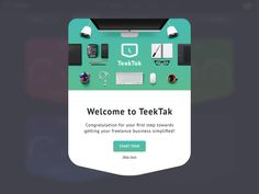 @Teektak is launching soon. Meanwhile, we are working on a sleek welcome guide to help our users get started with TeekTak.  www.teektak.com