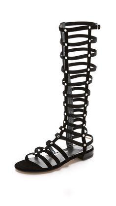Stuart Weitzman Gladiator Tall Suede Sandals - Black | SHOPBOP.COM saved by #ShoppingIS
