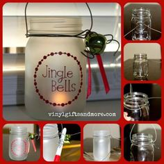 Mason Jar Christmas Lanterns ~ Get a head start on your Christmas projects. These frosted Christmas lanterns are perfect for gift giving. Add some jingle bells, holly, a pinecone or an ornament to dress it up. Christmas Lanterns, Jar Lanterns, Christmas Mason Jars, Christmas Fun, Holiday Fun, Christmas Decorations, Office Christmas, Desk Decorations, Cottage Christmas