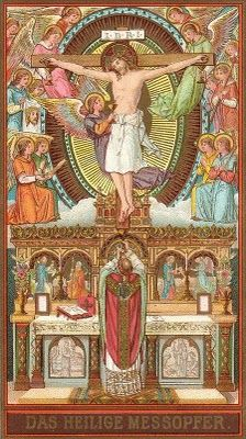 """""""Our way of thinking is attuned to the Eucharist, and the Eucharist in turn confirms our way of thinking. Catholic Mass Readings, Catholic Art, Roman Catholic, Religious Images, Religious Icons, Religious Art, Religion, Vintage Holy Cards, Blessed Mother"""