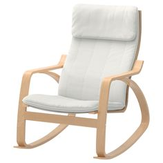 POÄNG Rocking chair - Granån white, medium brown - IKEA