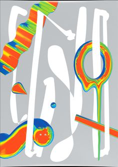 EGYD is a nine-piece experimental poster series by graphic artist Georg Fasswald and graphic designer Lukas Haider. The different artworks are a mashup of unconstrained Elements, playful typography and energetic color palettes. Experimental, Poster Series, 3d Artist, Printmaking, 3 D, Banner, Typography, Kids Rugs, Symbols