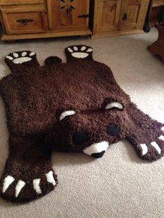 Teddy Bear Skin Rug Nap Mat