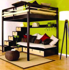 22 Unique Beds, Designer Furniture for Modern Bedroom Decorating Basement Furniture, Loft Furniture, Furniture Design, Furniture Removal, Street Furniture, Plywood Furniture, Furniture Stores, Mezzanine Bed, Modern Bedroom Furniture